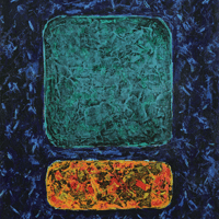 Polansky Art - Acrylic Painting  #02, Mark, 2007, acrylic on board, 50 x 60 cm, (SOLD)
