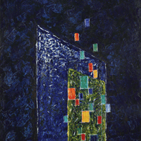 Polansky Art - Acrylic Painting   #03, Tower, 2007, acrylic on board, 50 x 60 cm