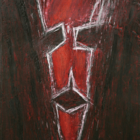 Polansky Art - Acrylic Painting   #09, Guardian, 2007, acrylic on board, 70 x 80 cm