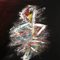 Polansky Art - Acrylic Painting  #112, Folkdance, 2019, acrylic on canvas, 100 x 100 cm