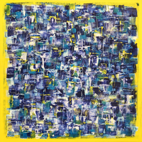Polansky Art - Acrylic Painting  #115, BlueYellow, 2019, acrylic on canvas, 100 x 100 cm