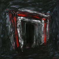 Polansky Art - Acrylic Painting   #17, Ninth Gate, 2007, acrylic on board, 90 x 90 cm