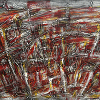 Polansky Art - Acrylic Painting   #18, Requiem, 2007, acrylic on board, 180 x 100 cm