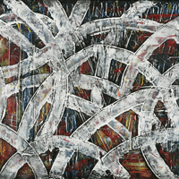 Polansky Art - Acrylic Painting   #20, Live, 2007, acrylic on board, 100 x 80 cm