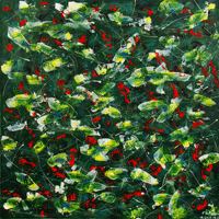Polansky Art - Acrylic Painting  #33, Spring, 2008, acrylic on board, 100 x 100 cm (Private collection)