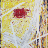 Polansky Art - Acrylic Painting   #42, Yellow Dream, 2008, acrylic on board, 80 x 100 cm