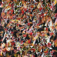 Polansky Art - Acrylic Painting  #56, Gataca, 2008, acrylic on board, 70 x 90 cm