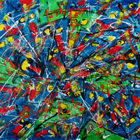 Polansky Art - Acrylic Painting   #62, Besy, 2008, acrylic on board, 100 x 80 cm