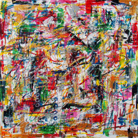 Polansky Art - Acrylic Painting   #80, Trance, 2011, acrylic on canvas, 100 x 100 cm, (SOLD)