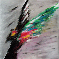 Polansky Art - Acrylic Painting  #84, Angel, 2012, acrylic on canvas, 100 x 100 cm
