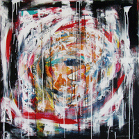 Polansky Art - Acrylic Painting   #90, Zrokopazor, 2012, acrylic on canvas, 100 x 100 cm (Private collection)